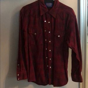 Red Pendleton Button Down